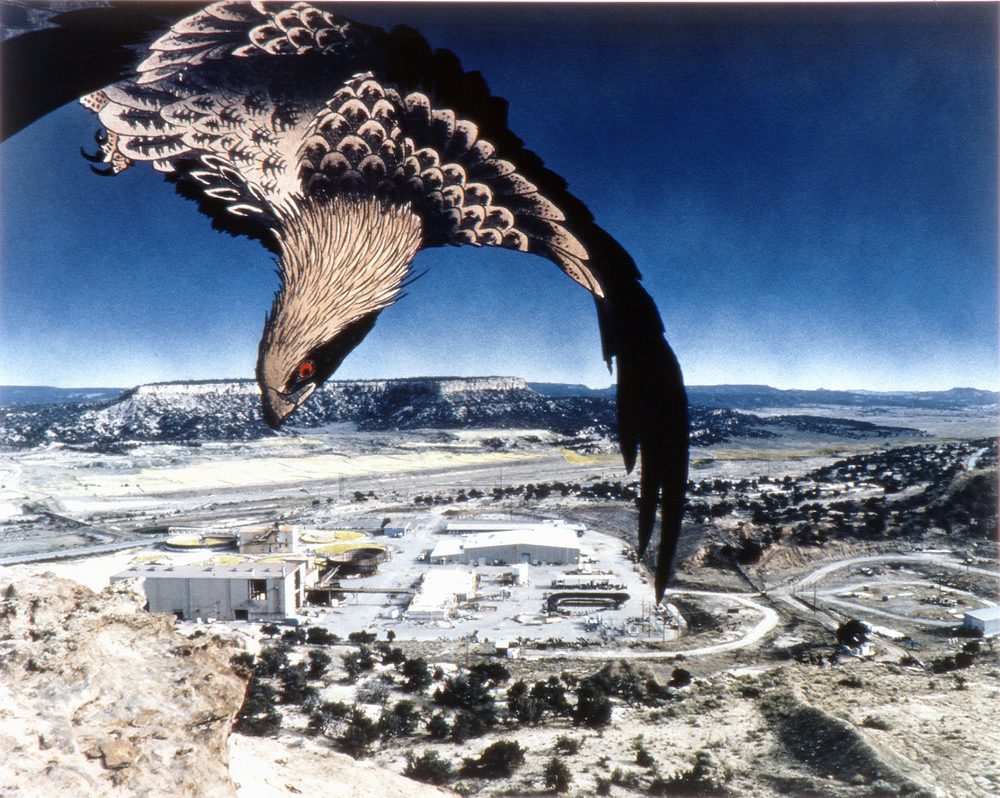 Golden Eagle, United Nuclear Corporation Uranium Mill and Tailings, Churchrock, New Mexico, 1990 & 1993, Chromogenic print (Ilfocolor Deluxe), 17 X 22 and 27 3/4 X 35 1/2